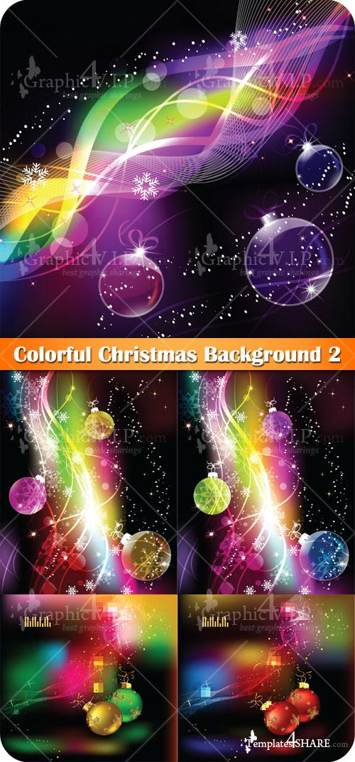 Colorful Christmas Background 2 - Stock Vectors