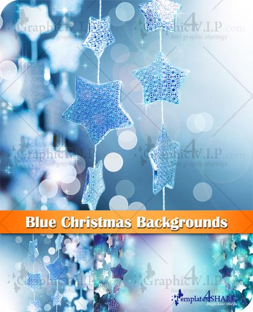 Blue Christmas Backgrounds - Stock Photos