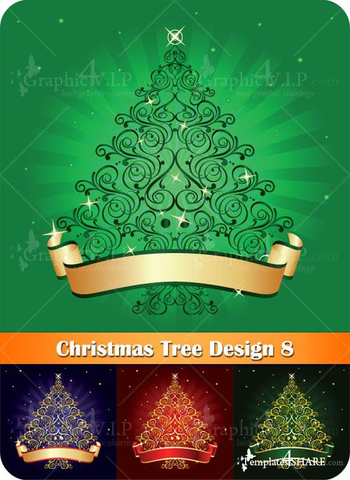 Christmas Tree Design 8 - Stock Vectors