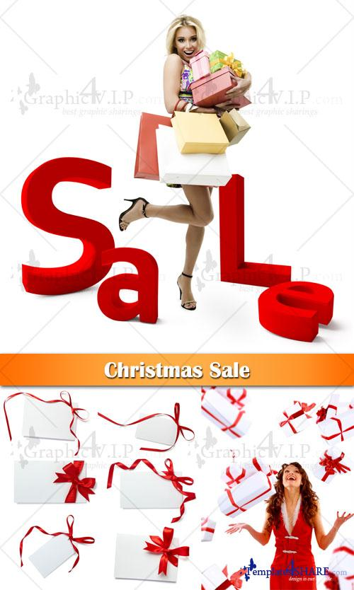 Christmas Sale - Stock Photos
