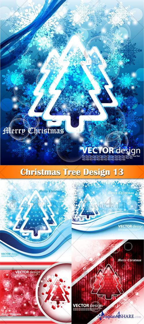 Christmas Tree Design 13 - Stock Vectors
