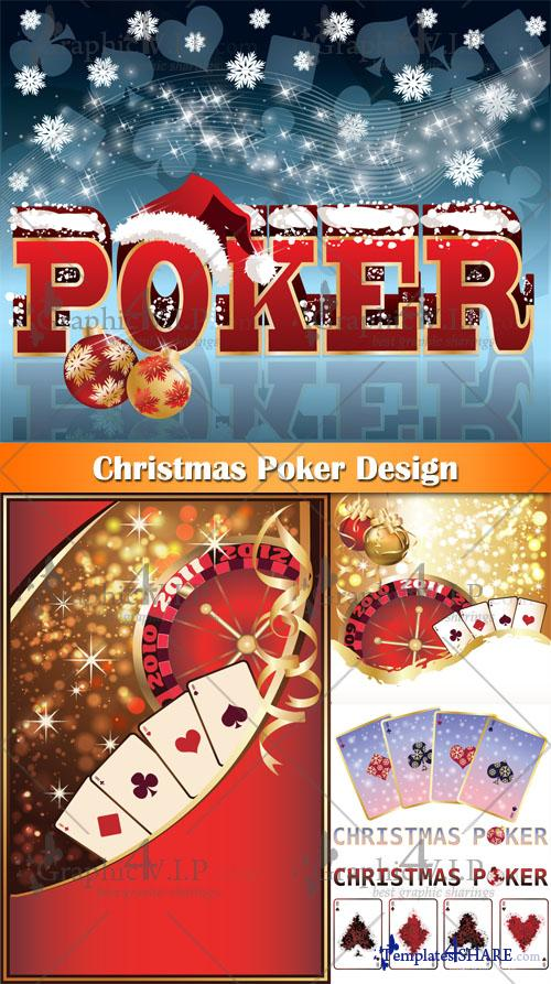Christmas Poker Design - Stock Vectors