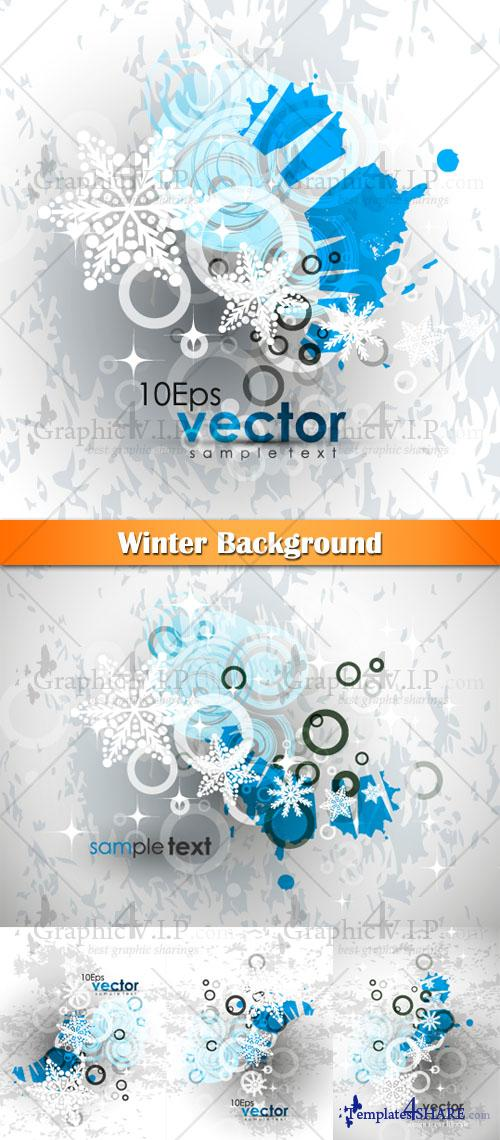 Winter Background - Stock Vectors