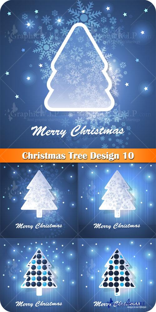 Christmas Tree Design 10 - Stock Vectors