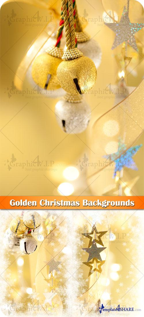 Golden Christmas Backgrounds - Stock Photos