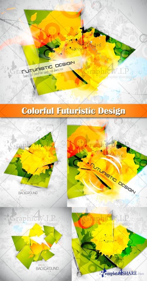 Colorful Futuristic Design - Stock Vectors