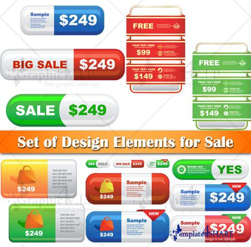 Set of Design Elements for Sale - Stock Vectors