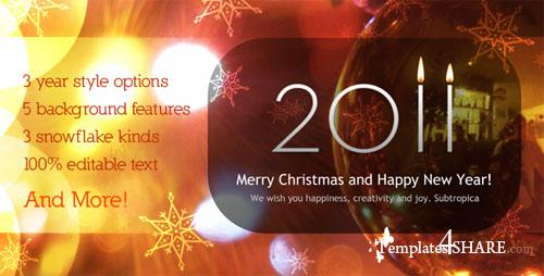 ActiveDen - Warm New Year and Christmas Greeting 2011 v.2