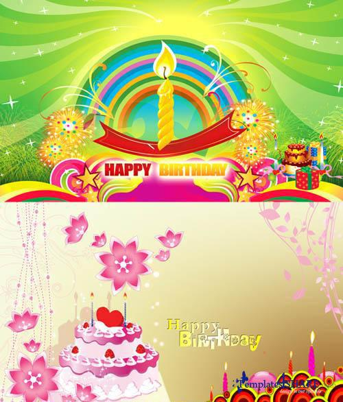 Happy Birthday Cards - PSD Templates