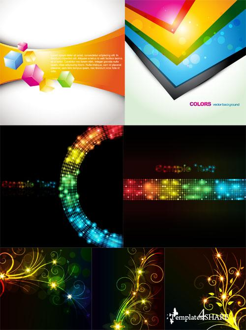 Colorful Abstract Vector Backgrounds 37
