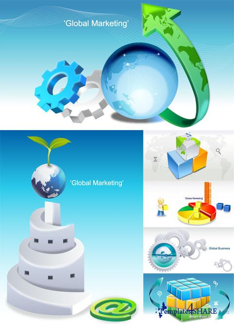 Global Business Vector Design