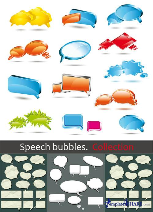 Speech Bubbles - Vector Clipart