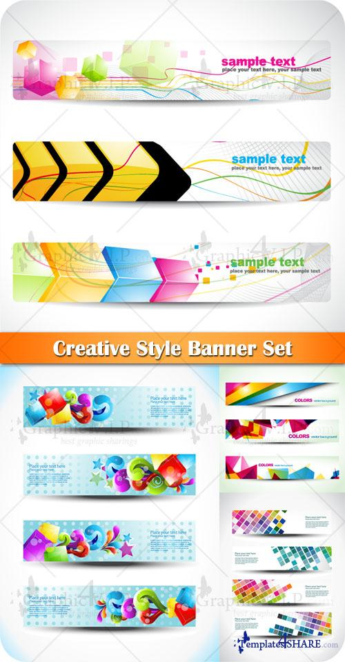 Creative Style Banner Set - Stock Vectors
