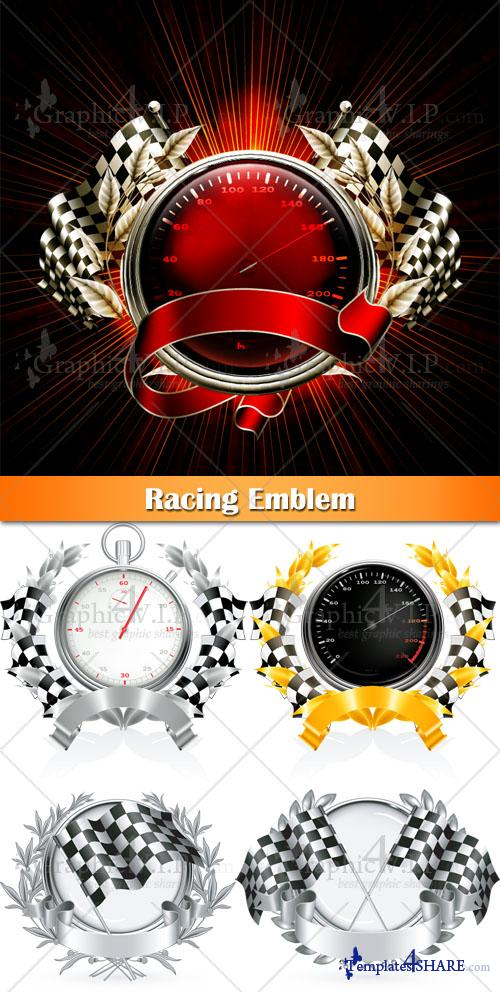 Racing Emblem - Stock Vectors