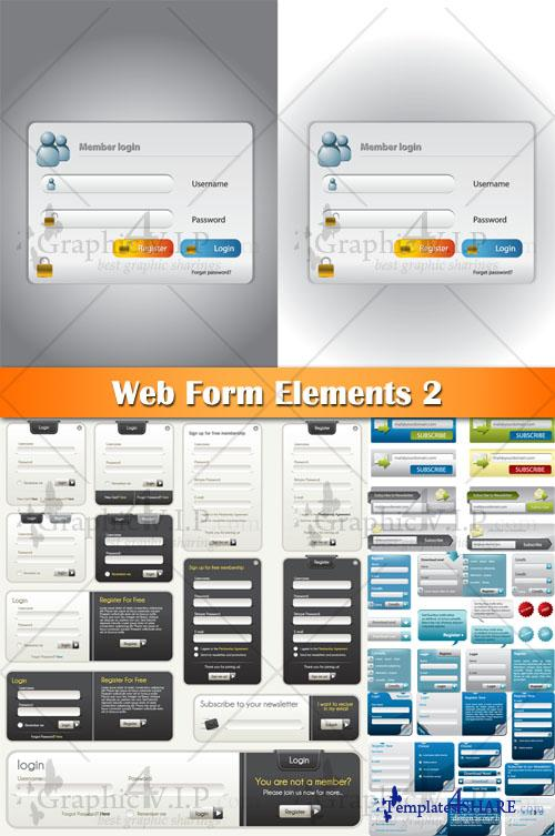 Web Form Elements 2 - Stock Vectors