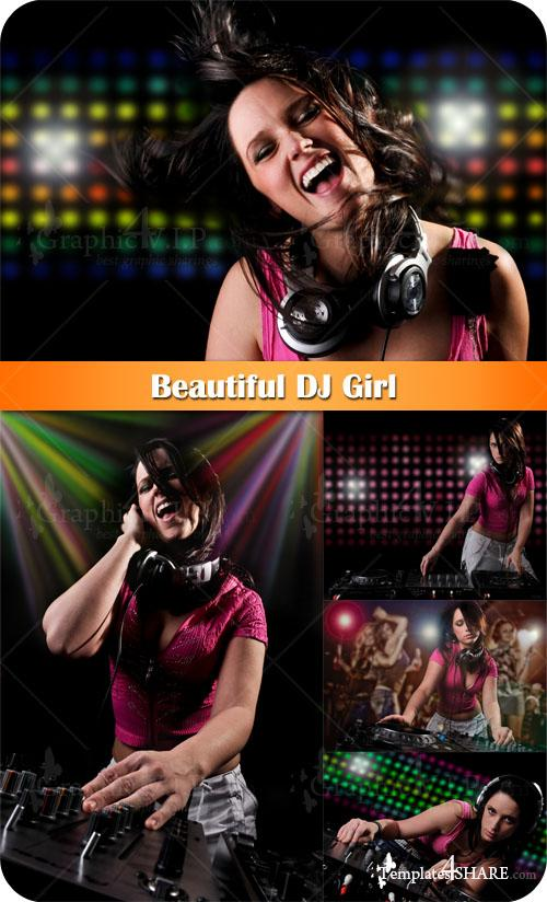 Beautiful DJ Girl - Stock Photos