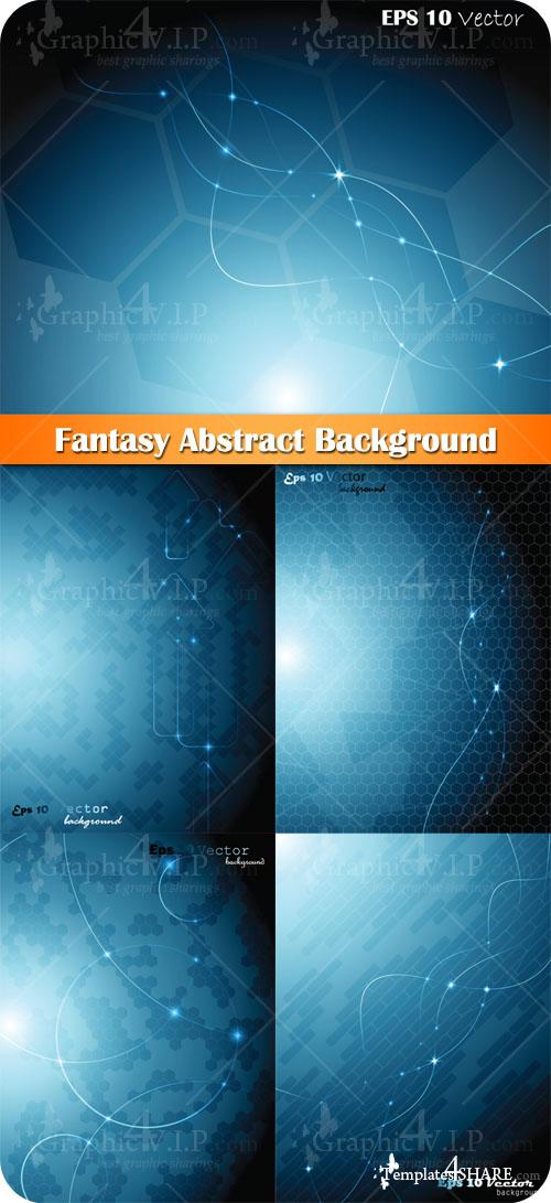 Fantasy Abstract Background - Stock Vectors
