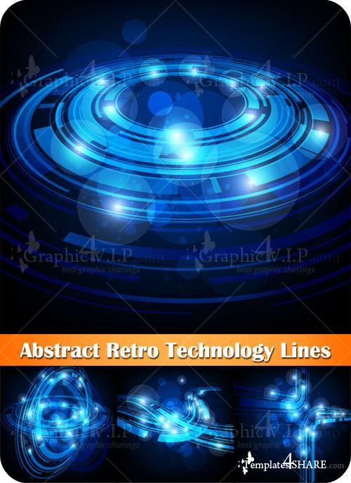 Abstract Retro Technology Lines - Stock Vectors