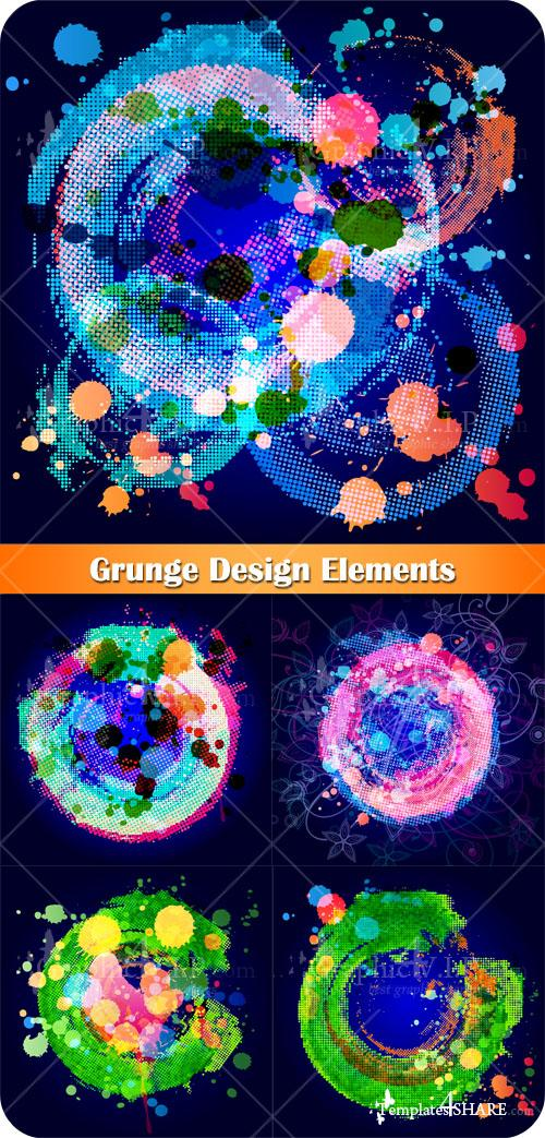 Grunge Design Elements - Stock Vectors