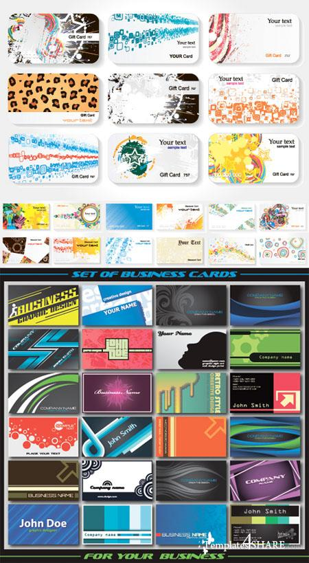 Business Cards Vector Set 5