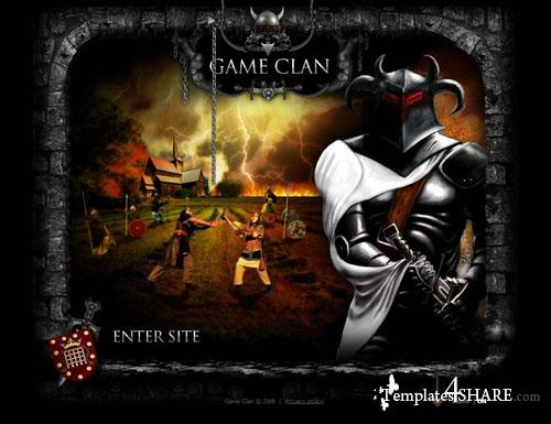 Game Clan - Flash Site Template