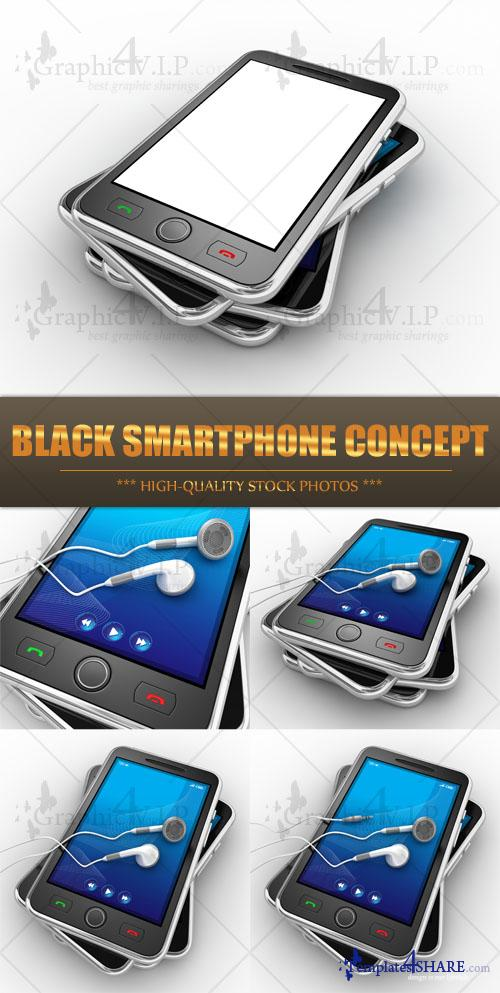 Black Smartphone Concept - Stock Photos