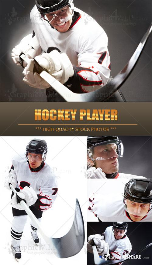 Hockey Player - Stock Photos