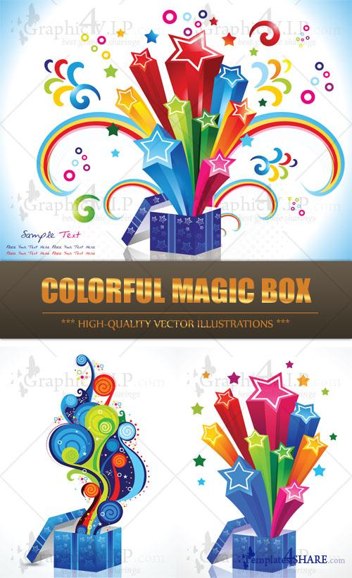 Colorful Magic Box - Stock Vectors