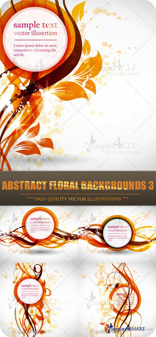 Abstract Floral Backgrounds 3 - Stock Vectors