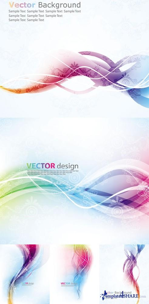 Colorful Abstract Vector Backgrounds 38