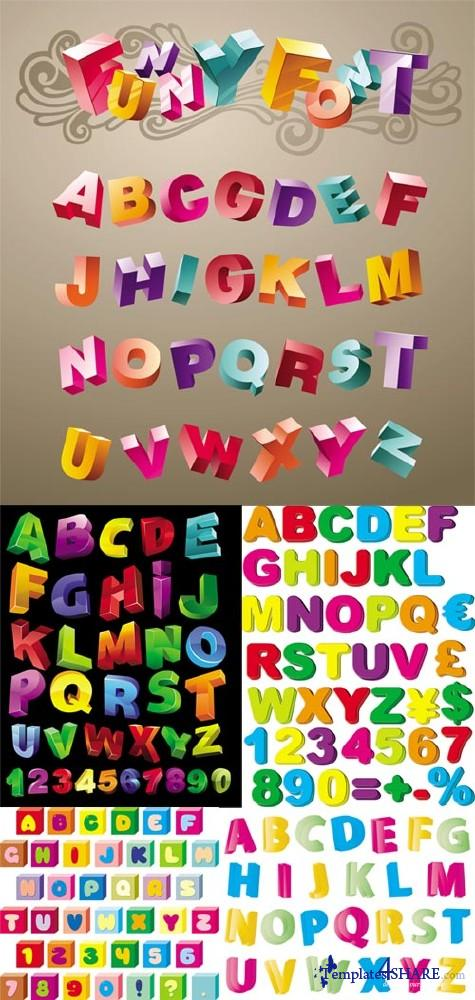 Colorful Alphabet 2 - Vector Clipart