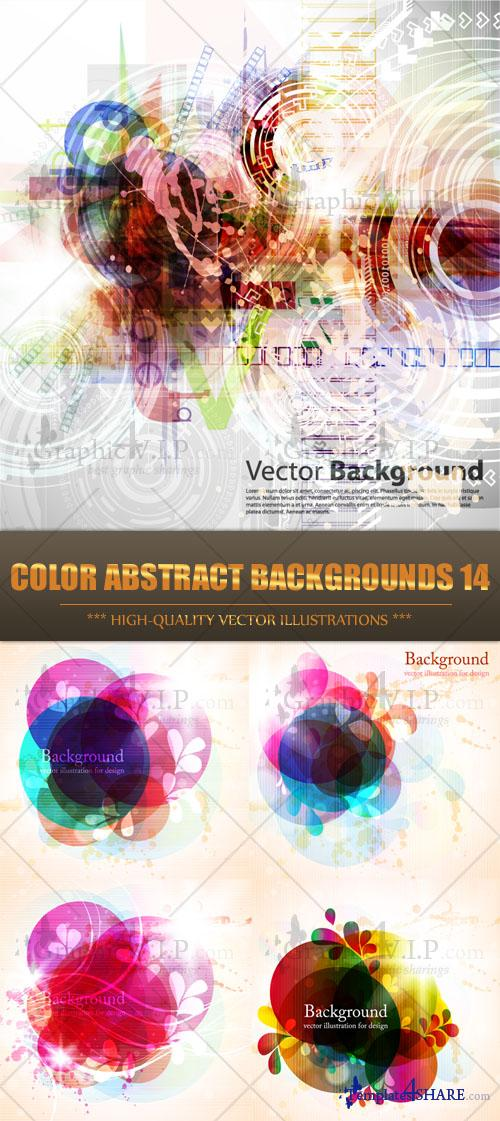 Color Abstract Backgrounds 14 - Stock Vectors