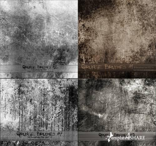 Grunge Photoshop Brushes Pack