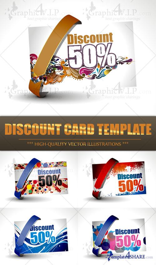 Discount Card Template - Stock Vectors