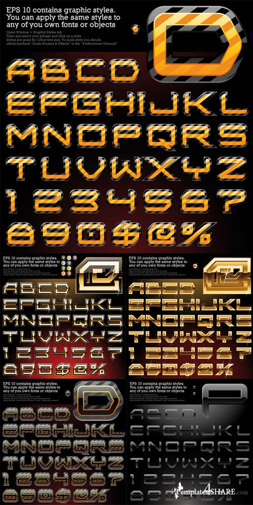 Glossy Vector Alphabet Set