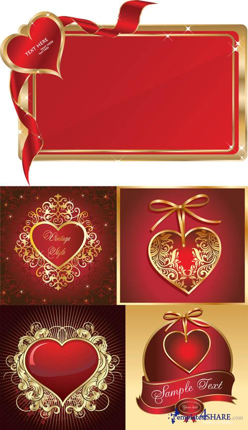 Love Card Messages - Vector Clipart