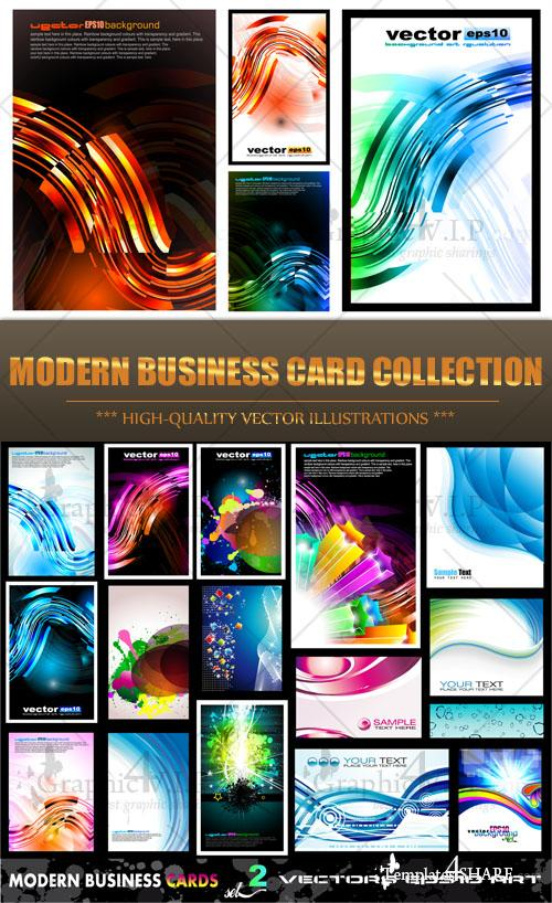 Modern Business Card Collection - Stock Vectors