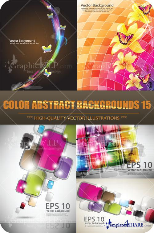 Color Abstract Backgrounds 15 - Stock Vectors