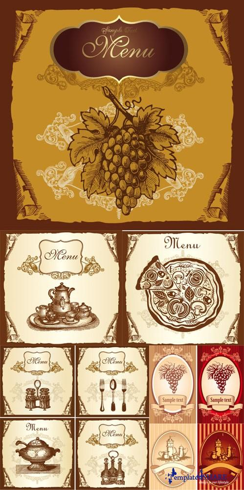 Vintage Menus Vector Collection