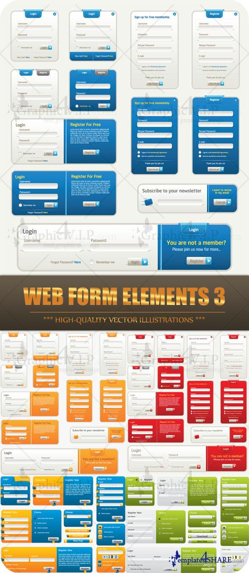 Web Form Elements 3 - Stock Vectors