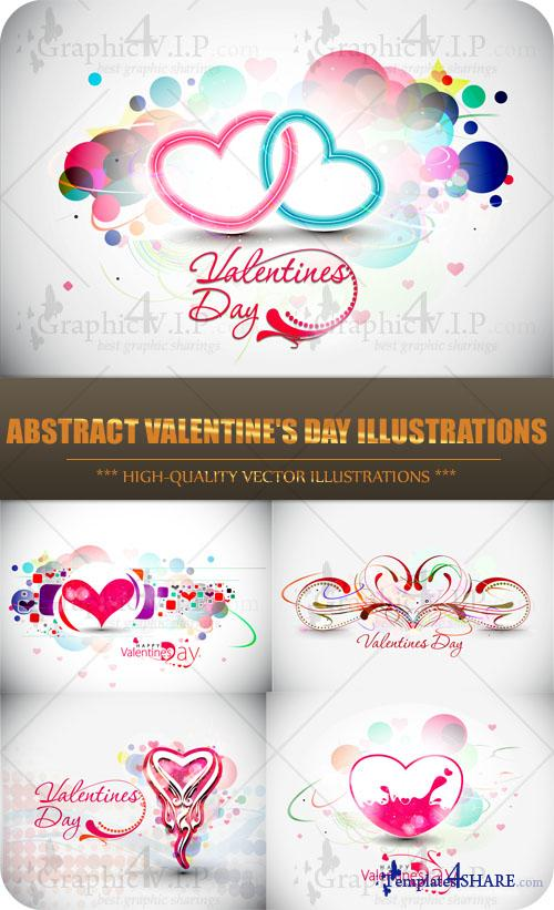 Abstract Valentine's Day Illustrations - Stock Vectors