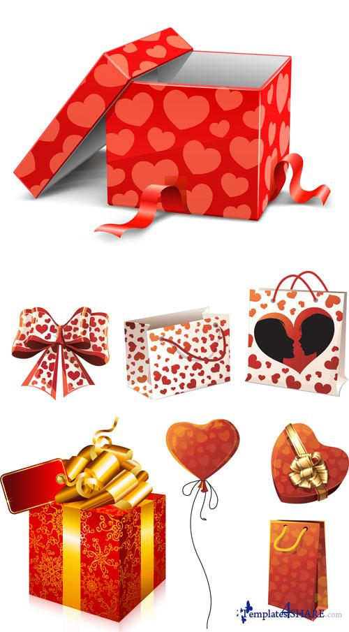 Valentine Day Vector Gifts