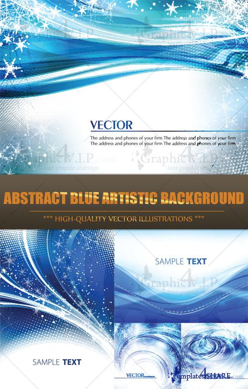Abstract Blue Artistic Background - Stock Vectors