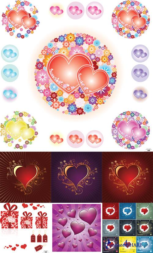 Valentine Day Hearts Vector MegaCollection 2