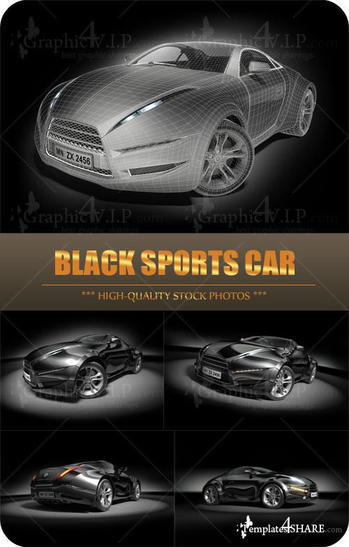 Black Sports Car - Stock Photos