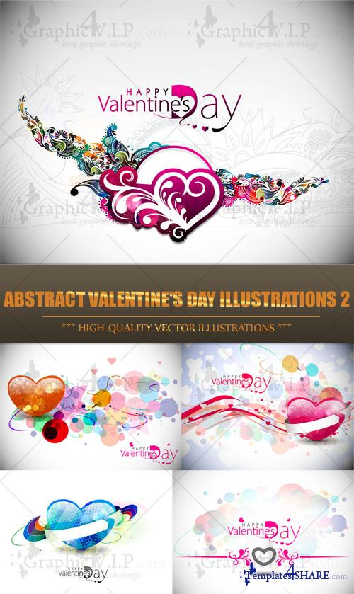 Abstract Valentine's Day Illustrations 2 - Stock Vectors