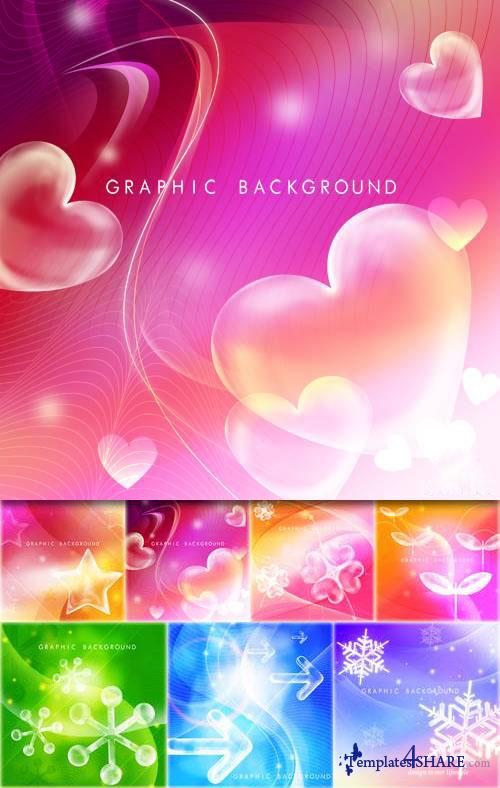 Colorful Backgrounds - PSD Templates