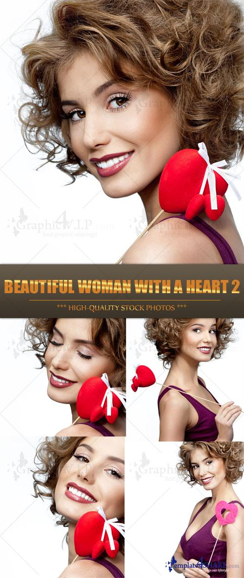 Beautiful Woman with a Heart 2 - Stock Photos