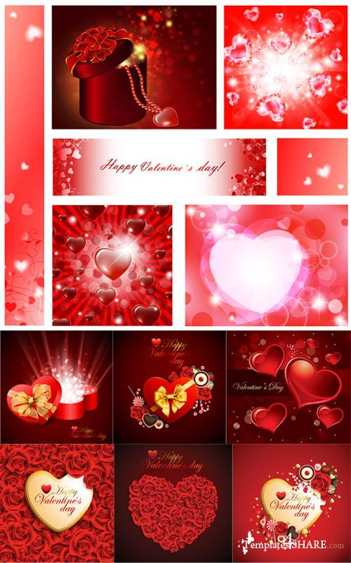 Valentine Day Hearts Vector MegaCollection 3