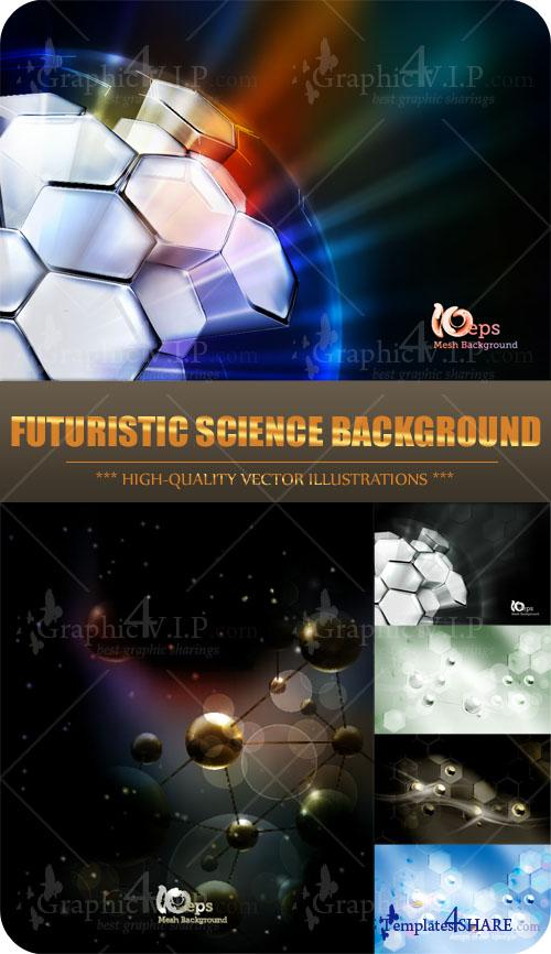 Futuristic Science Background - Stock Vectors